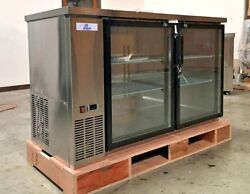New 60 Stainless Steel Beer Liquor Cabinet Case Refrigerator Commercial Bar Nsf