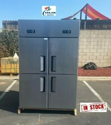 New 75 Upright Commercial Refrigerator Wall Cooled 4 Door With Warranty