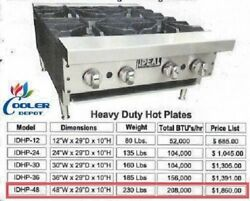 New 48 Ideal Commercial Hot Plate Model Idhp-48 Restaurant Cafe Usa Made Nsf