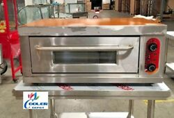 New Commercial Electric Pizza Oven Bakery Pizzeria W/ Stainless Steel Table 220v