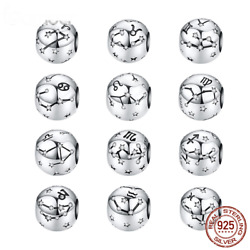 Authentic Pandora™ 925 Sterling Silver Aquarius Star Sign Zodiac Beads Charms