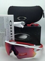 OAKLEY Sunglasses RADAR EV PATH OO9208 05 White amp; Red Frames w PRIZM Road Lenses $194.95