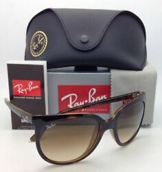 New Ray-ban Sunglasses Rb 4126 Cats 1000 710/51 Havana Frame W/ Brown Glass Lens