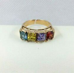 Amazing Ring Vintage Russian Jewelry Soviet Ussr Style Gold 14k 585 S-17/5