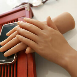 One Pair Hands Model Silicone Male Hand Model Men Hands Mannequin Showing