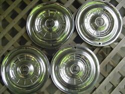 1955 55 Chrysler New Yorker Hubcaps Wheel Covers Antique Vintage Classic Antique