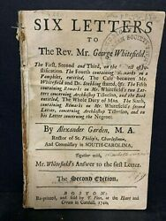 Rare 1740 Early Boston Imprint - George Whitefield - 2nd Edition Six Letters