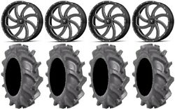 Msa Milled Switch 22 Wheels 35 Bkt At 171 Tires Can-am Commander Maverick