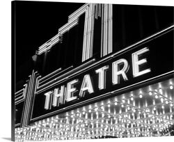 1930and039s 1940and039s Theater Marquee Theatre In Canvas Wall Art Print Home Decor