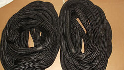 New Pair 2 1 X 35and039 Double Braid Nylon Dock Line Mooring Anchor Rope Boat