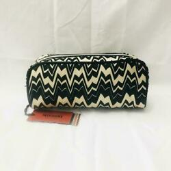 Missoni for Target Black Off White Famiglia Clutch Cosmetic Bag $45.00