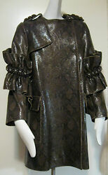 Simone Rocha Leather SNAKESKIN TRENCH Coat Size S-M