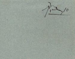 Pablo Picasso - Ink Signature - Spanish Painter Who Founded Cubism Art Movement