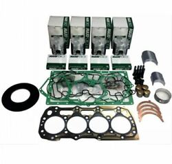 For Ford 3415 Tractor Shibaura N844l 4cyl Diesel Overhaul Rebuild Kit .50mm
