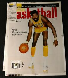 1/1 Wilt Chamberlain Editorand039s Proof 1st Beckett Cover After Death Extremely Rare