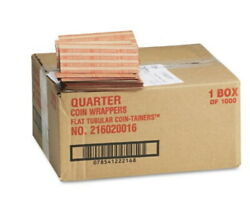 4000 Box Mmf Industries Pop Open Flat Paper Coin Wrappers New Quarters