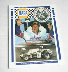 1994 34th Annual Knoxville Nationals Official Program Steve Kinser Stevie Smith