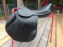 "18"" Zaldi Royal Event Close Contact Saddle, Black, XW!"