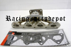 Obx Turbo Manifold Header Fit For Honda Prelude H22 92-97-01new