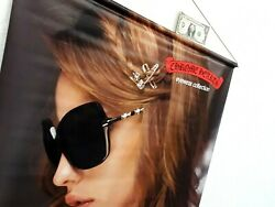Original CHROME HEARTS Sunglasses 2 sided Advertising poster Promo Promotional