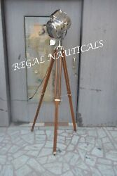 Nautical Electric Floor Lamp Studio Searchlight With Tripod Stand Designers Lamp