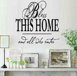 Bless This Home 12.5quot; x 12.5quot; Square Vinyl Wall Decal Sticker Home Décor Family