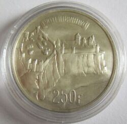 Luxembourg 250 Francs 1963 1000 Years County Silver
