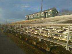 25 ROW ELEVATED ALUMINUM BLEACHERS 200 FEET LONG 3000 SEATS