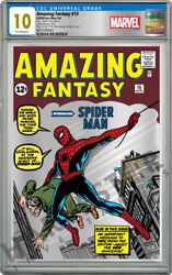 Marvel - Amazing Fantasy 15 - Silver Foil - Cgc 10 Gem Mint First Releases 888