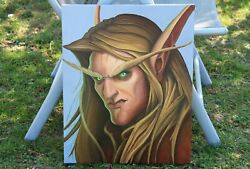 World Of Warcraft Oilpainting Bloodelf 40x50cm Burning Crusade Oil On Canvas