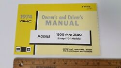 1974 Gmc 1500/3500 - Original Owners Manual Guide - Excellent Nos Condition Us