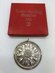 1981 Towle Sterling Silver 12 Days Christmas Ornament 11 Pipers Medallion