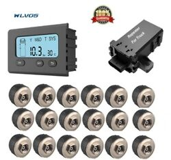 ON SALE TIRE PRESSURE&TEMPERATURE MONITORING SYSTEM+18 Sensors fit Truck RV