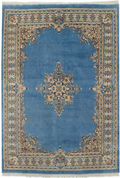 Rra 10x14 9and03910x13and0396 Indo Kerman Light Blue Field Rug 29849
