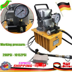 Electric Hydraulic Pump Power Pack Pedal Solenoid Valve Controlled 10k PSI 220V