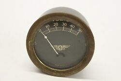 Original 1920and039s 1930and039s Jewell Brass Volt Meter Gauge Car Truck Boat Chevy Ford