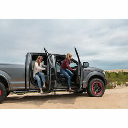N-fab 3 Round Nerf Bar Step System W/bed Step Txtr For F250/350 87-97 Cc 8' Bed