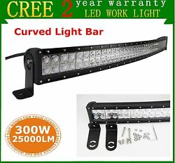 52inch Led Work Light Bar 300w Curved Truck Offroad Suv Boat Driving For Jeep 53