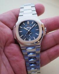 PATEK PHILIPPE Nautilus Annual Calendar 57261A-014 Steel watch with Blue Dial