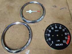 2 Bezels Dial Face And Pointer For Ducati