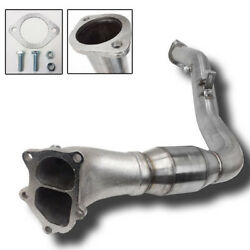 Rev9 For 05-09 Subaru Legacy Gt 3 Divided Turbo Downpipe High Flow Cat Mt Only