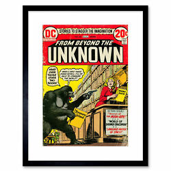 Comic Book Cover Beyond Unknown Robber Monkey Framed Art Print Poster 12x16 Inch