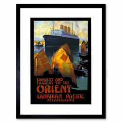 Travel Canadian Pacific Steamship Orient Canada Junk Ad Framed Print 12x16 Inch