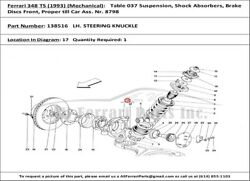 Ferrari Part 138516 Lh Front Stub Axle Cars With Abs