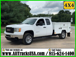 2012 GMC 3500HD 4X4 EXTENDED CAB 6.0 GAS 8' BED SERVICE TRUCK Used Extended Cab