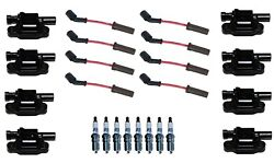 Ignition Wires 8 Coils 8 Spark Plugs Kit Acdelco For Cadillac Cts Chevy Camaro