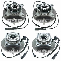 Front And Rear Wheel Bearings And Hubs Kit Timken For Expedition Navigator 4wd 03-06