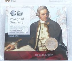 2018 Royal Mint Captain Cook Andpound2 Two Pound Coin Pack Sealed Uncirculated