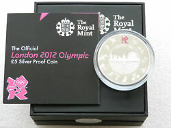 2012 Royal Mint London Olympic Games Andpound5 Five Pound Silver Proof Coin Box Coa