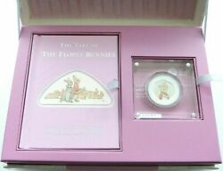 2018 Beatrix Potter Flopsy Bunny Deluxe 50p Fifty Pence Silver Proof Coin Boxcoa